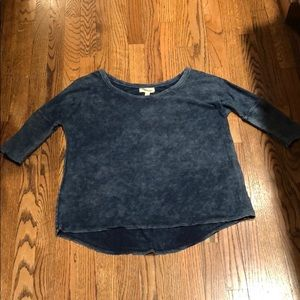 CLOTH AND STONE BLUE MINERAL WASH TOP